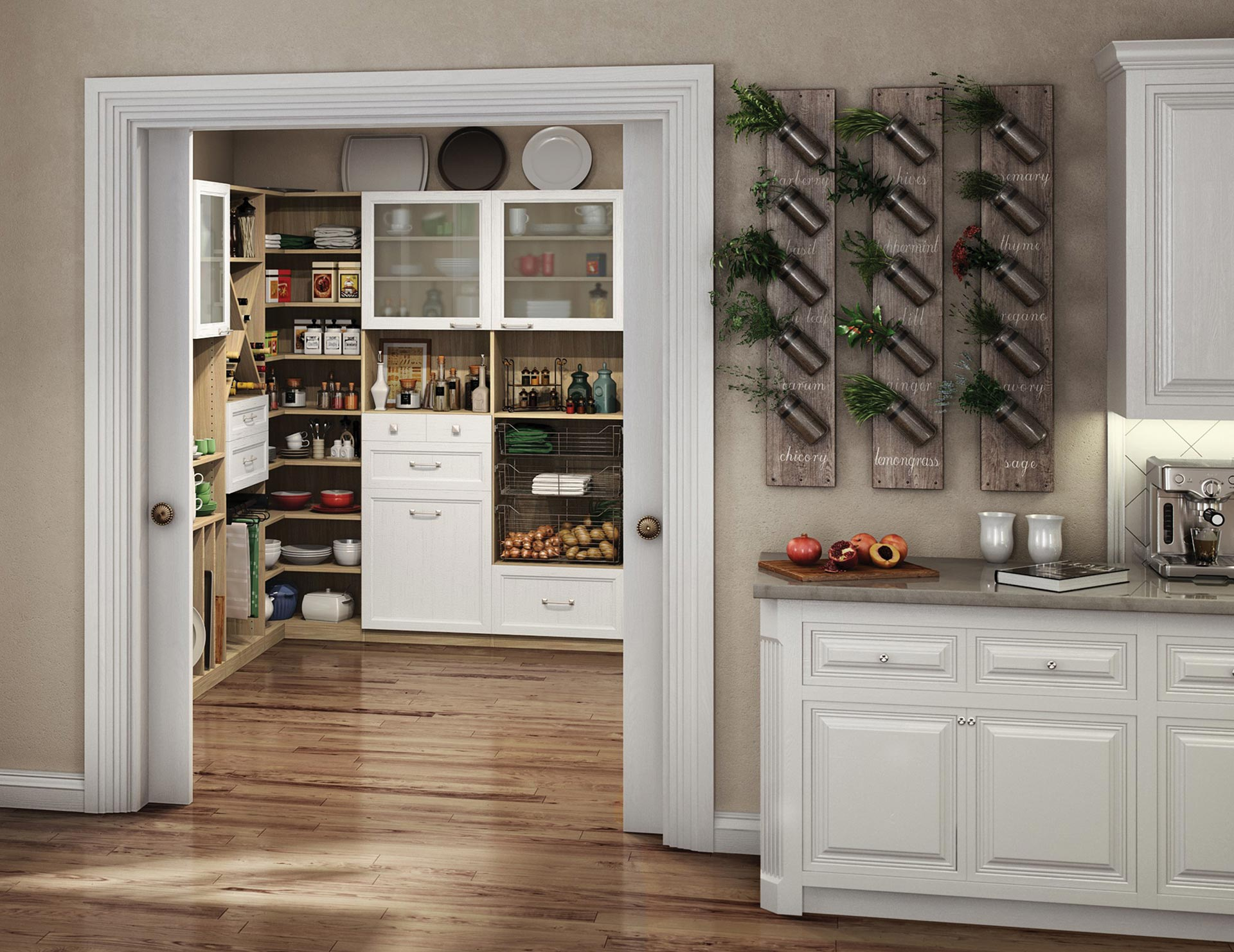 Kitchen Pantry Cabinets Kitchen Organization Ideas California Closets