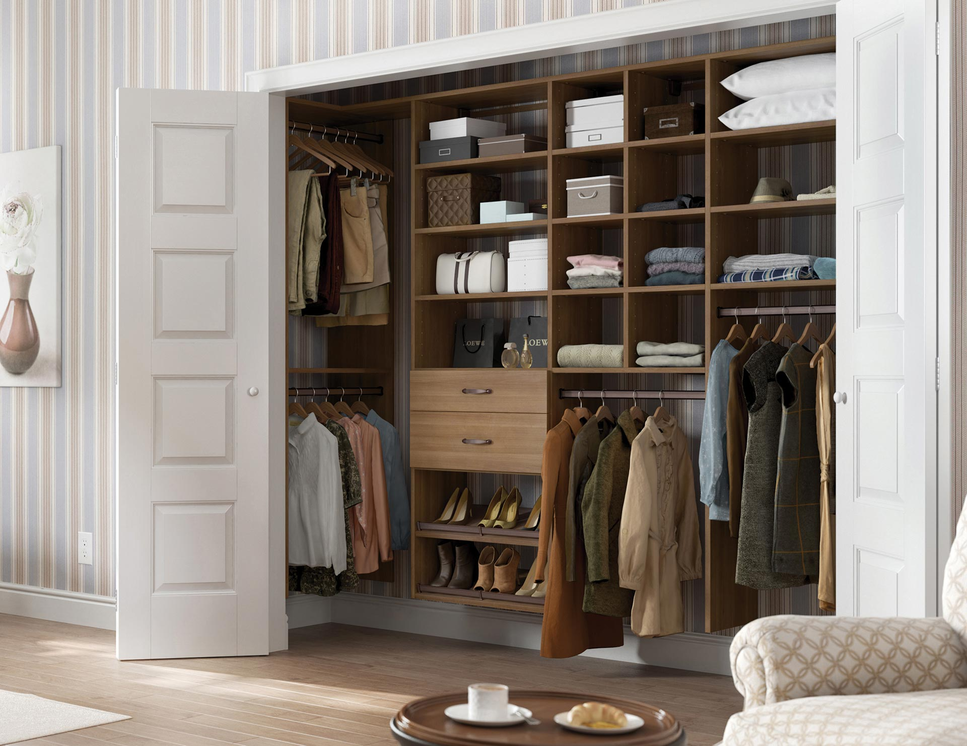 Do It Yourself Home Design: Reach-In Closet Designs