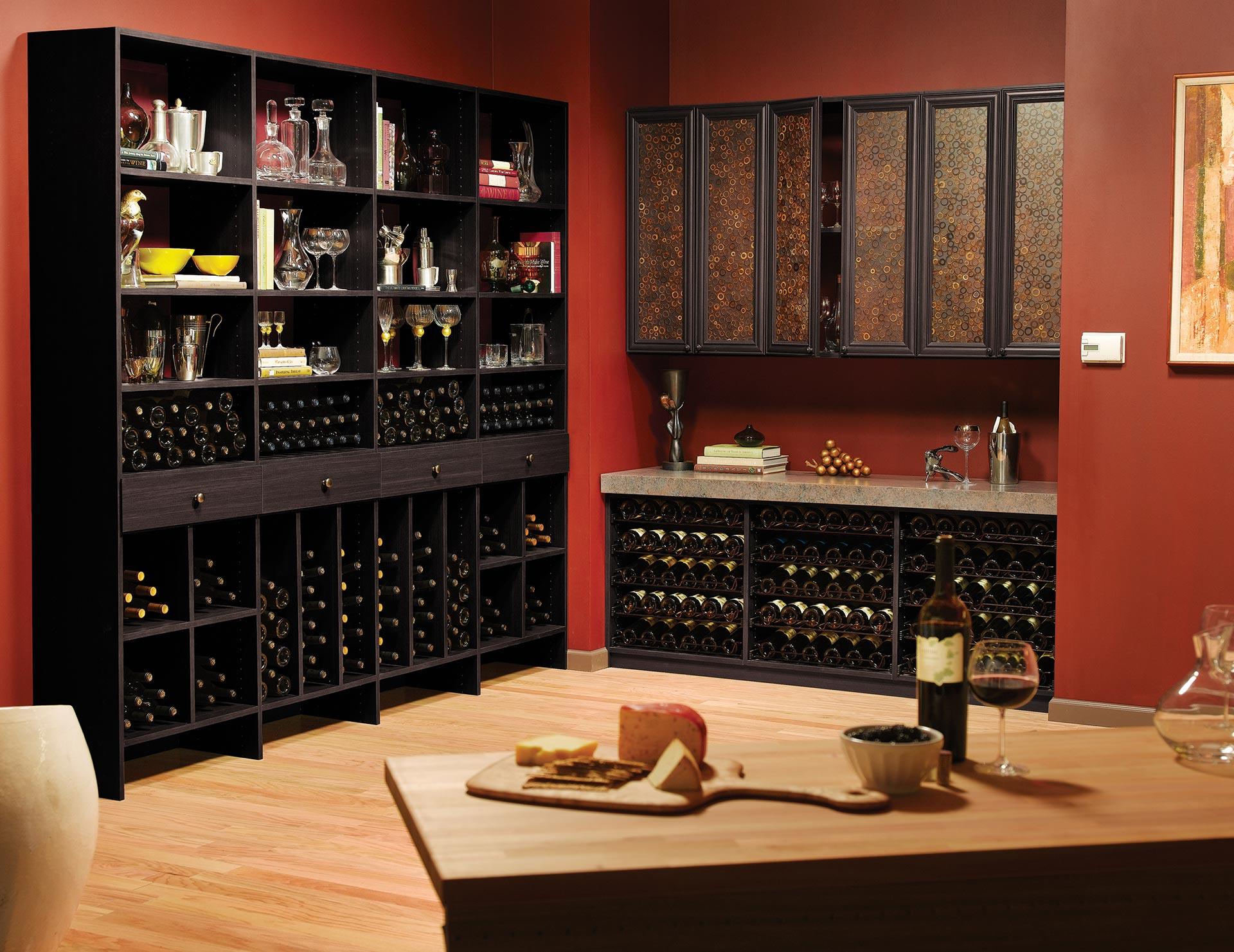 Wine Storage Cabinets Custom Wine Racks California Closets