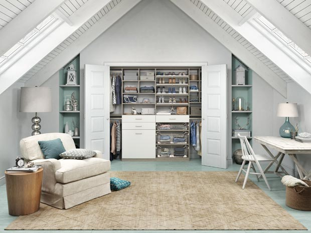 Custom reach in closets Bedroom Seaside Attic Reachin Hgtvcom Reachin Closets Designs Ideas By California Closets