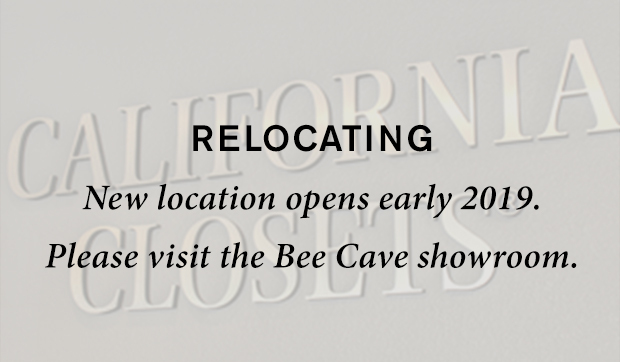 Relocating New location opens early 2019 Please Visit The Austin Bee Cave Showroom