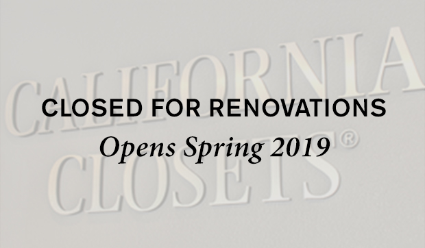 Closed For Renovation opens Spring 2019