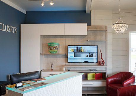 Custom Closets and Living Room Interior