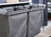 TAG Hardware gray laundry bags with hanging frame system