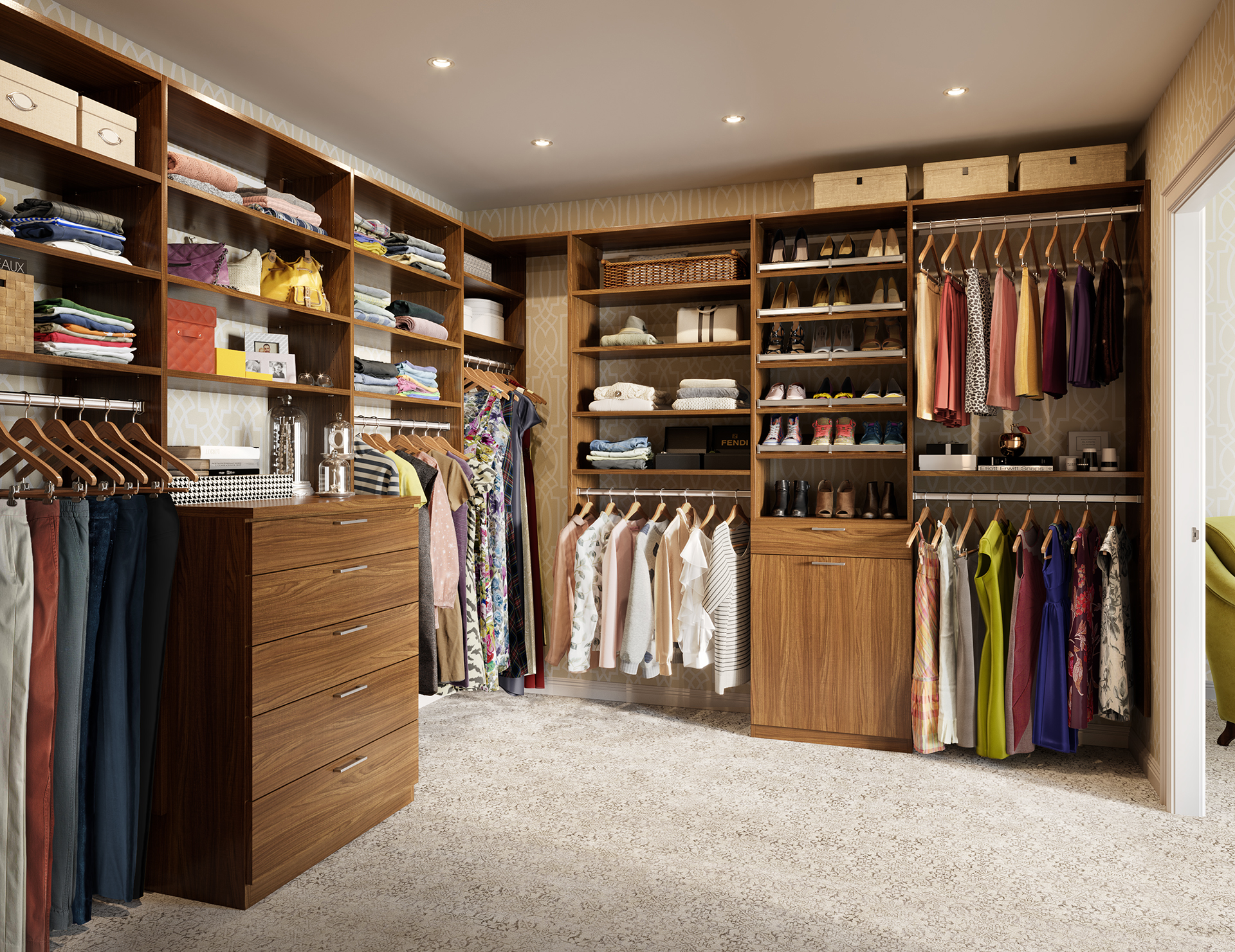 Do It Yourself Home Design: Walk-In Closet Design Ideas