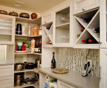 California Closets White Pantry Storage with Shelving Drawers X Design Cubbies and Cabinets with Frosted Glass Doors