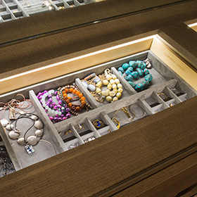 Dark Brown Drawers with Jewelry Drawer Inserts