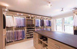 An Executive's Well-Appointed Walk-In Closet