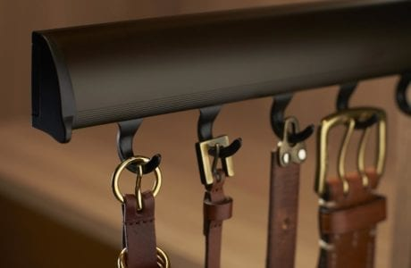 Close Up of Pull Out Belt Rack