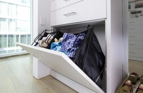 California Closet Hamper Storage