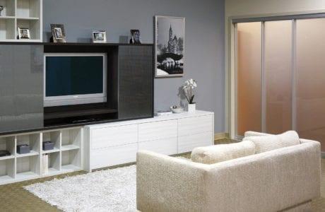 Sliding Glass Doors For Entertainment Room Divider