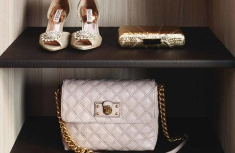 California Closets - Leather Shelving