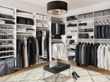 California Closets Hamilin walk in classic white closet