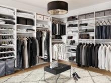 California Closets Hamilin walk in classic white closet 2