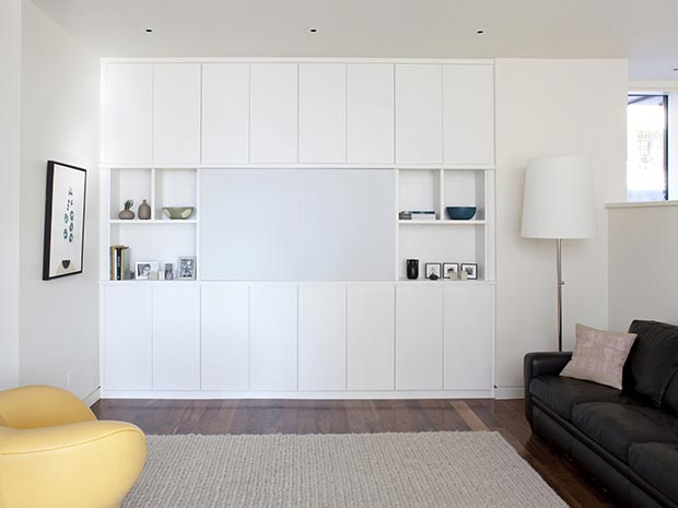 California Closets White Themed Media Center