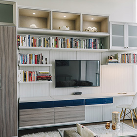 Twin Cities White and Grey Entertainment Center