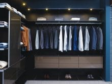 California Closets luxe walk in closet Richmond bronze