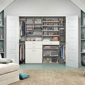 California Closets Seaside Attic Reach in Closet Storage Solution 5