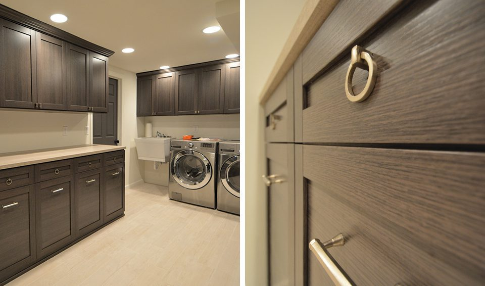 Top Ten Designs of 2014 Number Eight Bare Basement to Luxurious Laundry