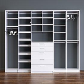 White Closet Storage System
