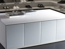 White Walk in Closet Counter Top Seating with Storage Drawers