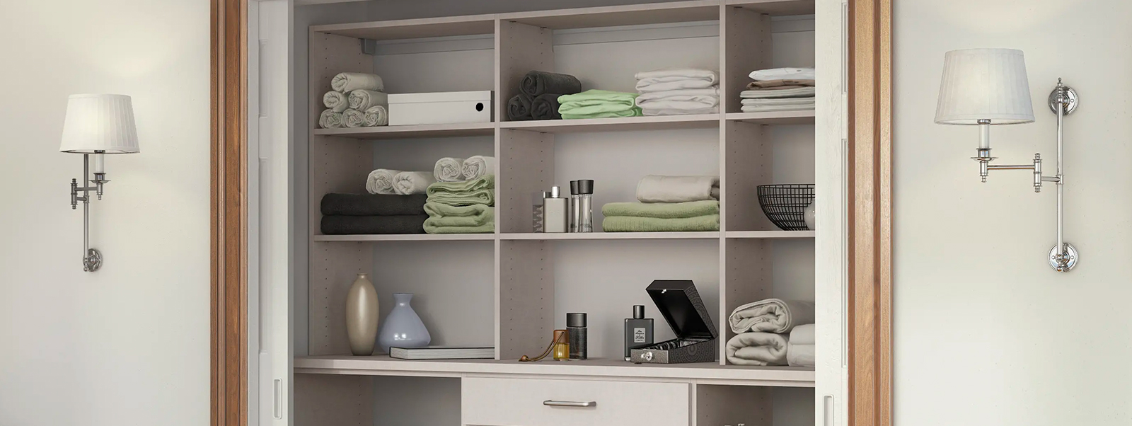 Linen Cabinets & Hall Closet Organizers by California Closets