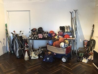 California Closets Before Image of Garage Storage Redesign