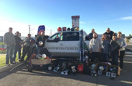 California Closet Team with Sports Equipment
