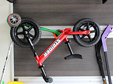 The Kapala Family Client Story Fusion Track Wall System for Bike and Toy Storage