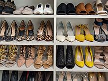 Grasie Mercedes Client Story Custom White Finish Shoe Storage Rack