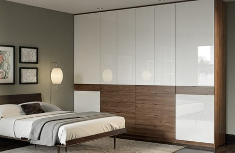 California Closets High Gloss Custom Bedroom