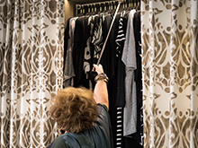 Susan Ferrier Client Story Decorative Curtains and Clothing Hanger System