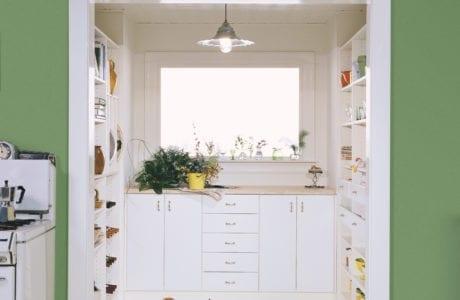 California Closets spacious kitchen pantry area
