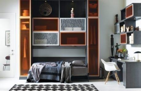 California Closets Murphy bed desk setup