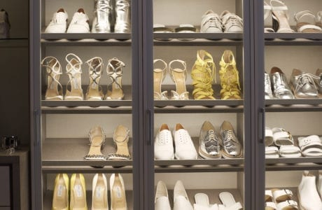 California Closets lighted shelving for shoes