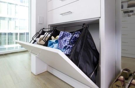 California Closets White Built In Laundry Hamper Oklahoma City