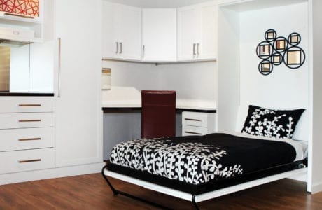 California Closets White Murphy Bed Design Puerto Rico