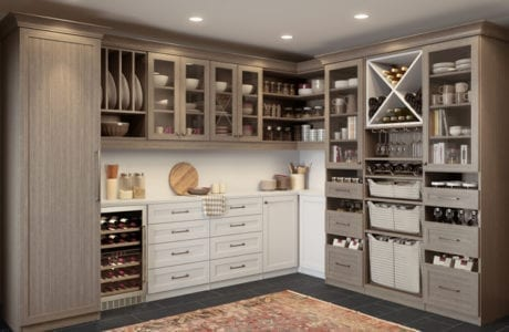 California Closets custom walk in pantry design Northern New Jersey