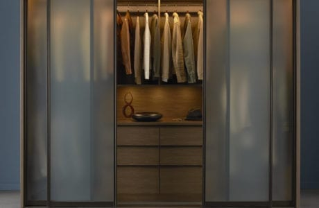 California Closets contemporary reach in closet design Palm Springs