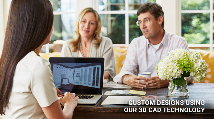 Custom Designs Using Our 3D CAD Technology California Closets Consultation