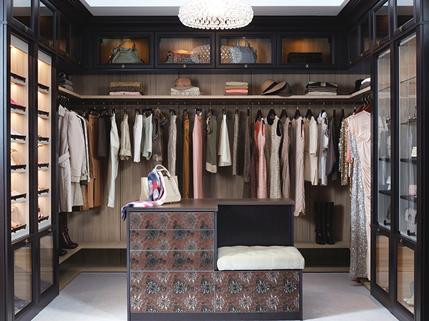 California Closets Pasadena - Custom Walk-In Closet with Island