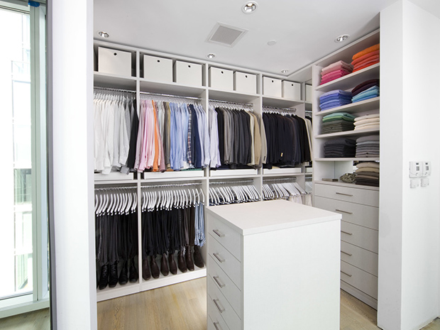 California Closets Delware & Eastern Shore - Custom Walk-In Closet with Island