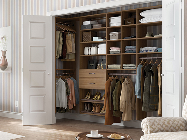 California Closets Central Illinois - Custom Reach-In Closet System