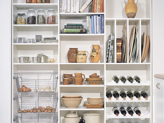 California Closets Nassau County - Pantry Storage Accessories