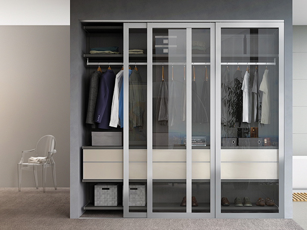 California Closets West Palm Beach - Reach-In Closet with Sliding Doors