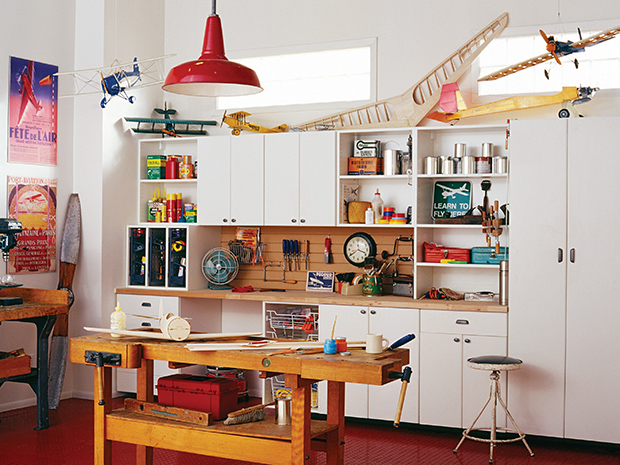 California Closets Bluffton - Garage Workbench and Storage System