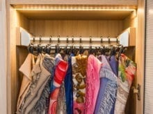 California Closet Client Story Jill Scarf rack in closet