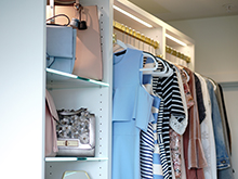 California Closets Velvet and Vino Client Story Dresses and Bags