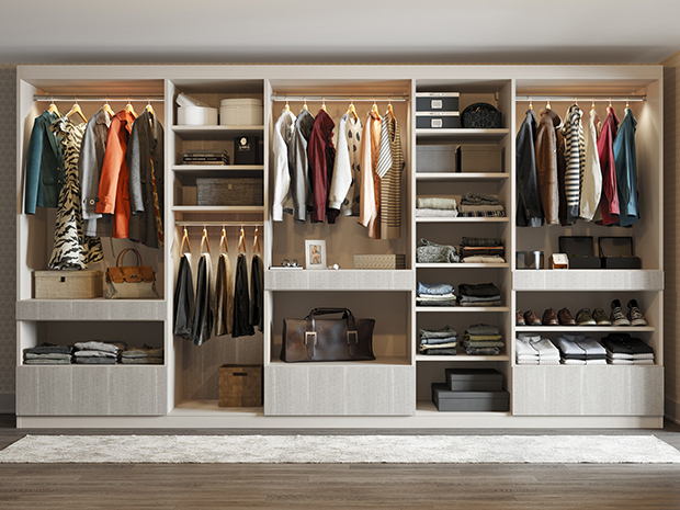California Closets KC - Walk Through Wardrobe System