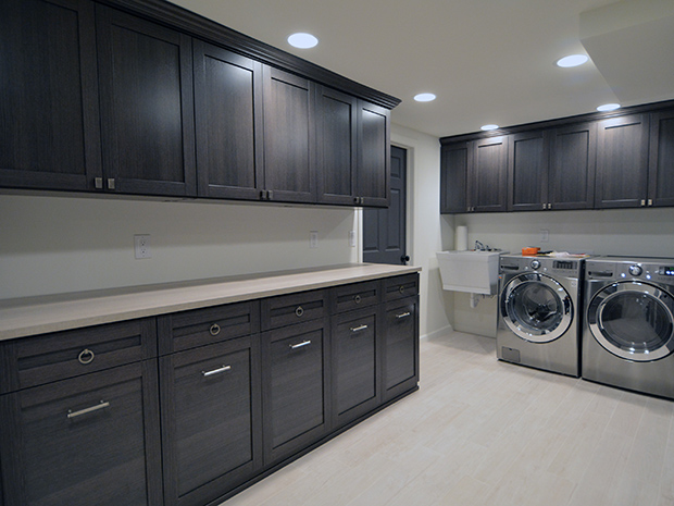 California Closets Northern Indiana - Laundry Room with Storage Cabinets